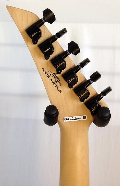 Jackson X Series Signature Gus G Star Satin Black with White Pinstripes Electric Guitar
