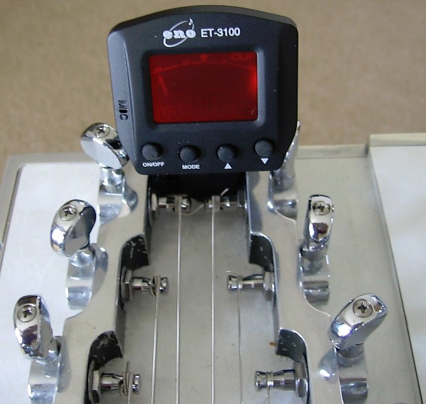 pedal or lap steel guitar clip on tuner sgn products reverb. Black Bedroom Furniture Sets. Home Design Ideas