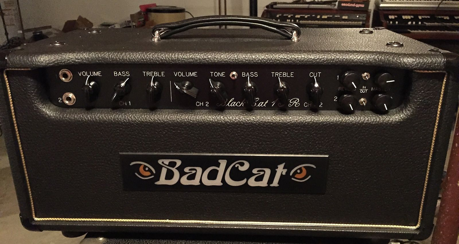 bad cat black cat 15r 15 watt guitar amp head with reverb reverb. Black Bedroom Furniture Sets. Home Design Ideas