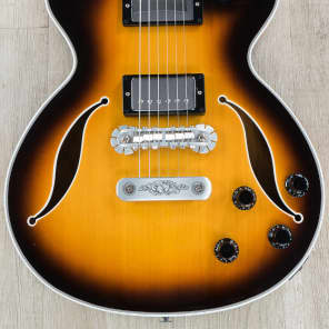Zemaitis V22HB Virtuoso Series Hollowbody Guitar, Spruce Top, Flame Maple (2018 NAMM)