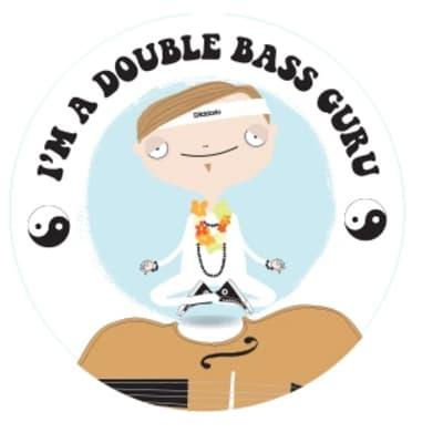 "D'Addario I'm A Double Bass Guru 4"" Round Sticker"