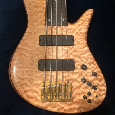 Fodera Emperor Fretless 5 String Bass Custom Quilted Maple for sale
