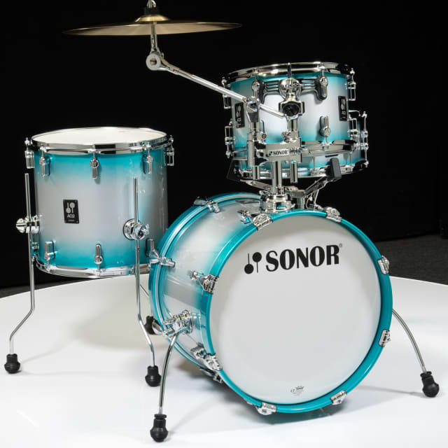 Sonor AQ2 Maple Bop Kit 4pc Shell Pack - Aqua Silver Burst Lacquer image