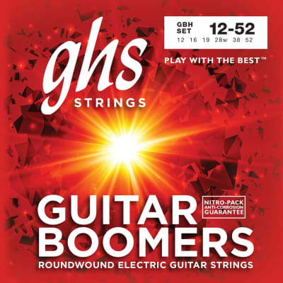 GHS #SETGBH - Guitar Boomers Roundwound Electric Guitar Strings, 12-52