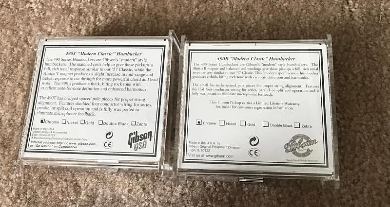 Gibson 490R and 490T Pickup Set-Never Used | Kaizen Music