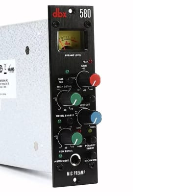 NEW dbx 580 Mic Instrument 500 Series Preamp  | 2-Day Ship USA + Worldwide Ship | Authorized Dealer