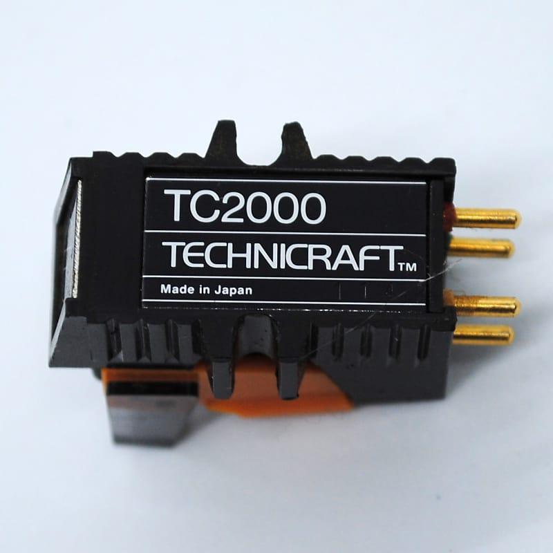 Audio Technica Technicraft TC2000 Turntable Cartridge & Stylus Needle Black  / Orange #112