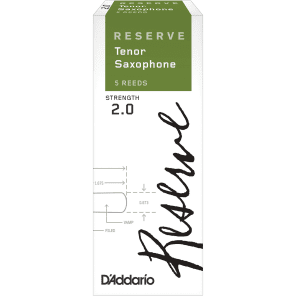 D'Addario DKR0520 Reserve Tenor Sax Reeds - Strength 2.0 (5-Pack)
