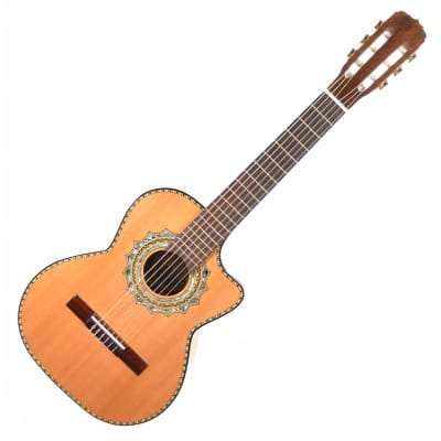 Paracho Elite Guitars Zapata Nylon String Cutaway Acoustic Guitar 2008 Natural Gloss for sale