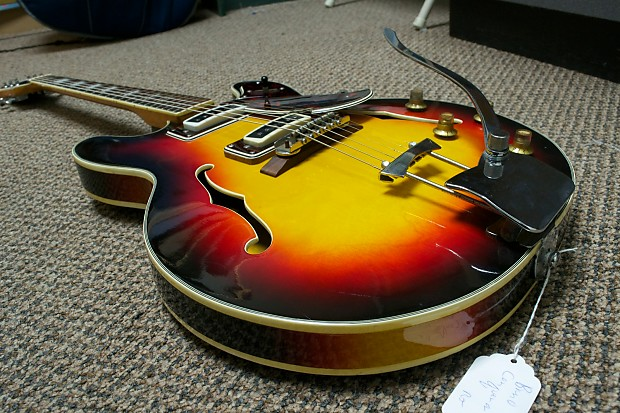 Bruno Conqueror Thinline Hollowbody 1960s 3 Color Sunburst