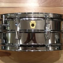 """Ludwig 5x14 """"Super Ludwig"""" Chrome Over Brass Snare Drum 1960-1963 image"""