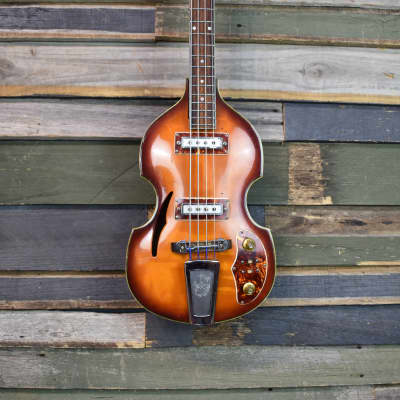 Guyatone  Violin Bass Hollow Body  1960's Sunburst for sale