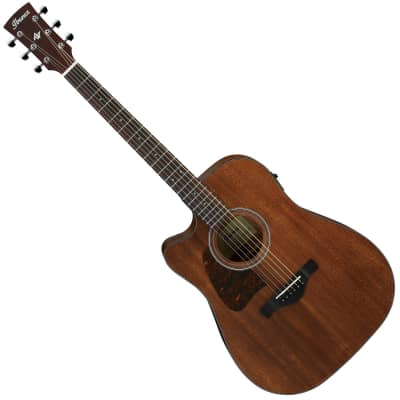 Ibanez AW54LCEOPN Artwood Thermo-Aged Okoume Left-Handed Open Pore Dreadnought with Cutaway