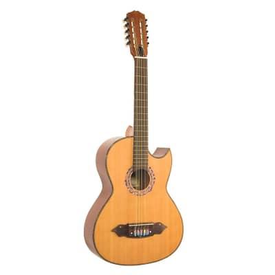 Lucida LG-BQ1-E Mariachi Classical Acoustic Electric Bajo Quinto Guitar + Case