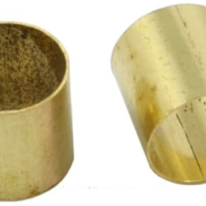 Allparts Pack of 5 Brass Pot Sleeves for sale