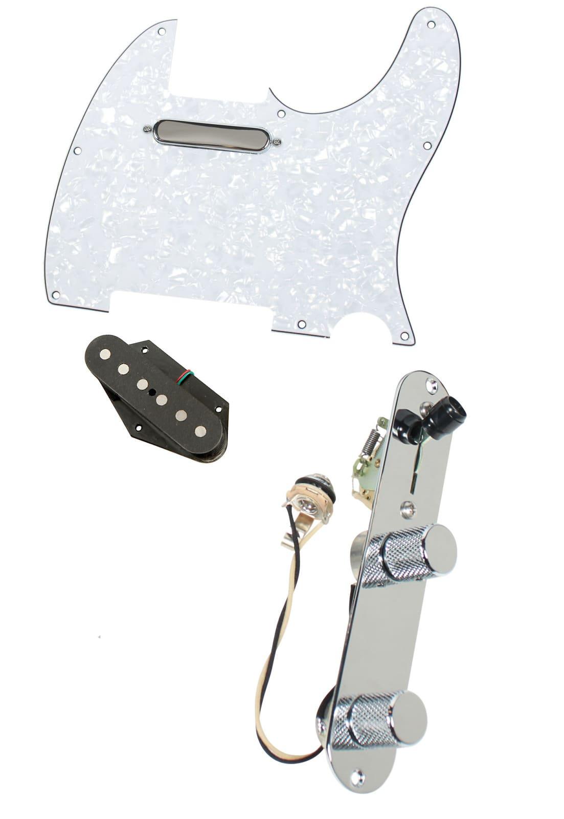 fender tele telecaster loaded pre wired pickguard dimarzio reverb. Black Bedroom Furniture Sets. Home Design Ideas