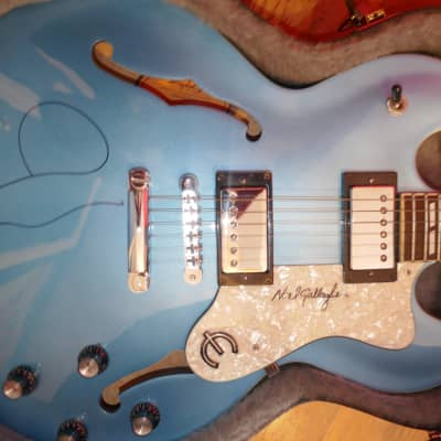 Epiphone Supernova Blue SIGNED Autographed Noel Gallagher Electric Guitar for sale