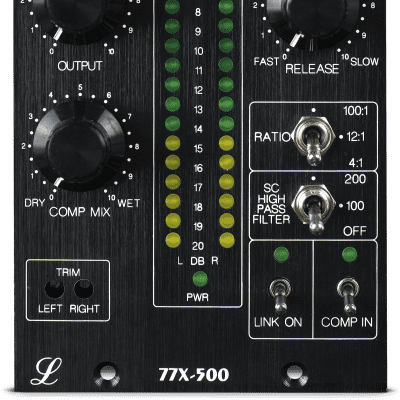 New Lindell Audio 77X500 - 500 Series Stereo FET Compressor, with Variable Mix