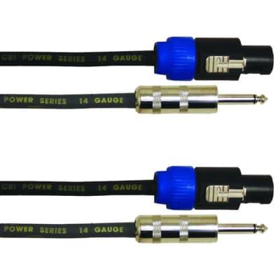 CBI 14 Gauge Speakon to 1//4 Speaker Cable 50 Feet