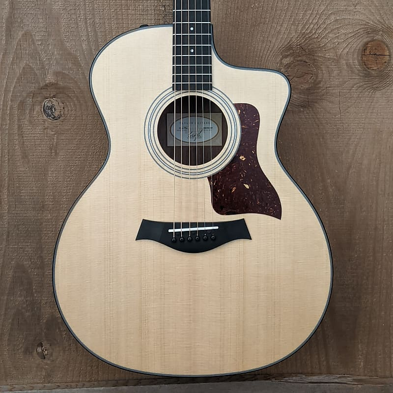 Taylor 214ce Plus Grand Auditorium Acoustic Electric Guitar Natural
