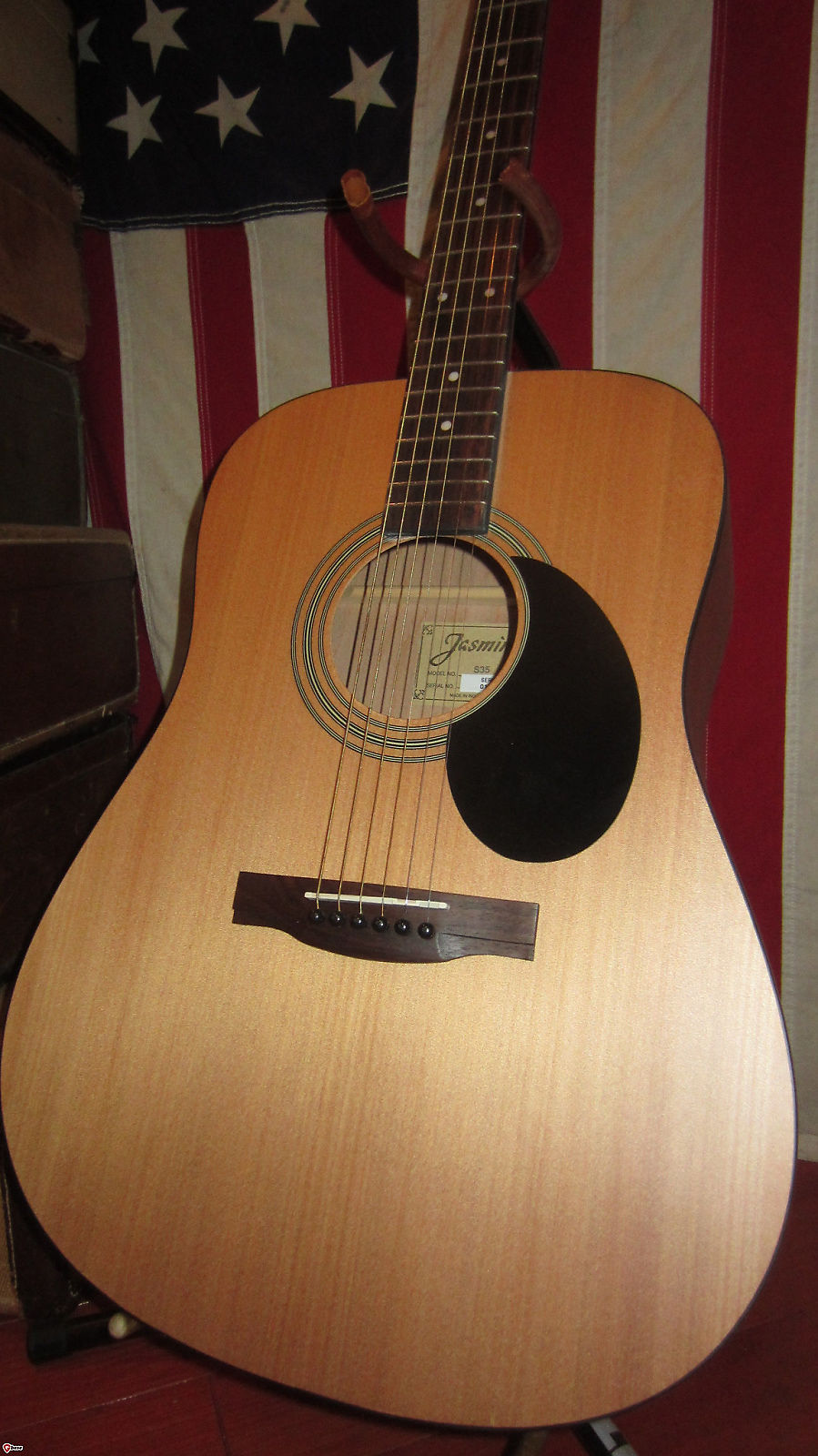 jasmine s 35 dreadnought acoustic guitar natural reverb. Black Bedroom Furniture Sets. Home Design Ideas