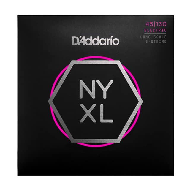 D'Addario NYXL45130 Set Long Scale, Regular Light 5-String, 45-130 image