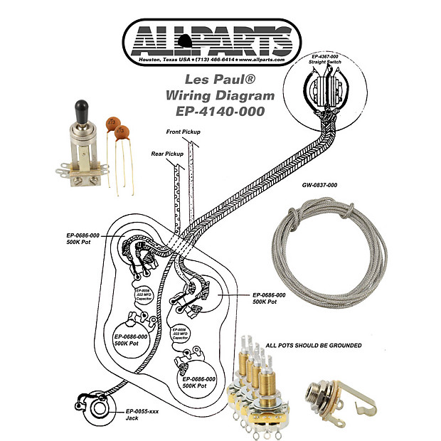 Wiring kit gibson les paul complete with schematic diagram reverb wiring kit gibson les paul complete with schematic diagram pots switch wire swarovskicordoba Images