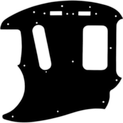 WD Custom Pickguard For Left Hand Fender Kurt Cobain Mustang #38 Black/Cream/Black