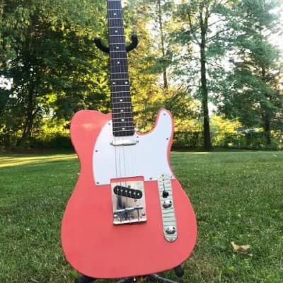 Pellittiere Guitars Coral Pink T-Style Electric Guitar 2020 Coral Pink