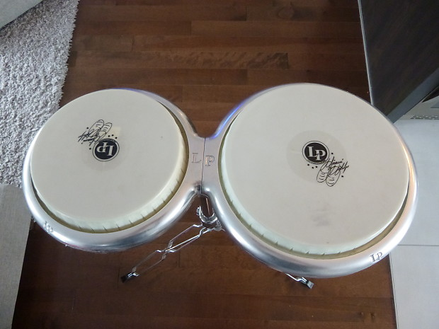 LP LATIN PERCUSSION GIOVANNI COMPACT BONGO DRUMS w// MOUNTING POST LP828