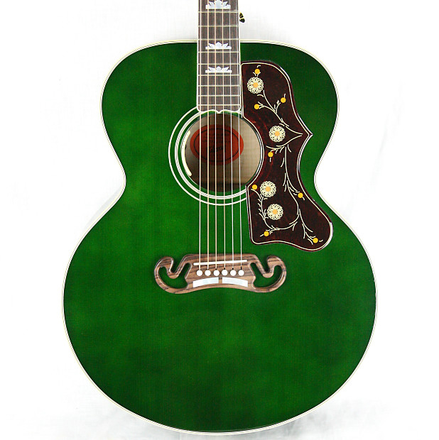 2017 Gibson Sj 200 Emerald Green Limited Edition Custom Shop Reverb