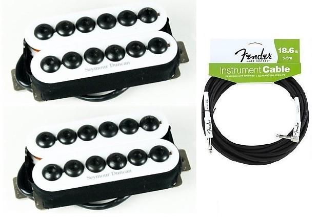 Seymour Duncan Invader 6 String Humbucker Guitar Pickup Set In White SH-8b  & SH-8n ( FENDER 18FT )