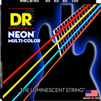 DR Hi-Def NEON Multi-Color: Coated Bass Strings: 45, 65, 85, 105