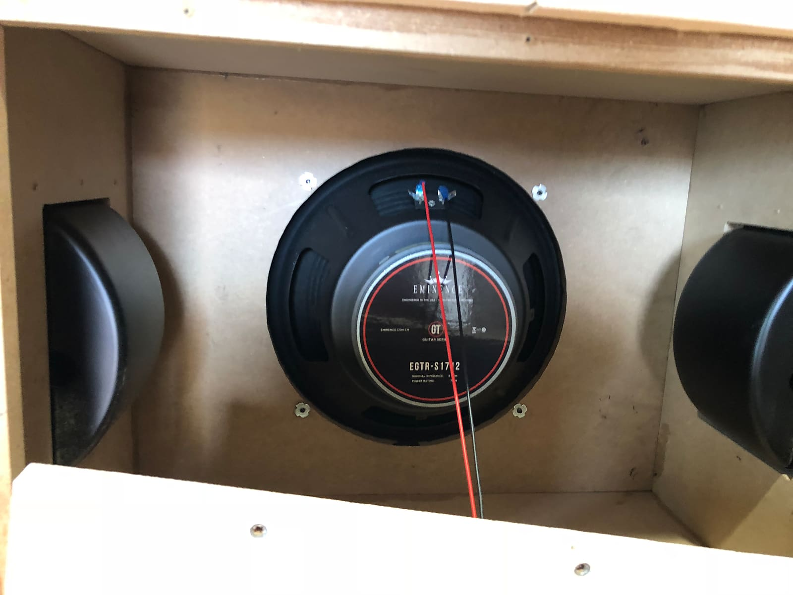 Bootlegger Blues 30 1x12 Eminence closed back wide body cabinet 100 watt 8 ohm side handles brown