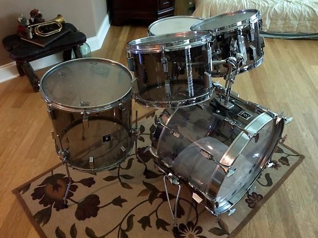 sonor centennial phonic acrylic drum set smoke grey 1875 1975 reverb. Black Bedroom Furniture Sets. Home Design Ideas