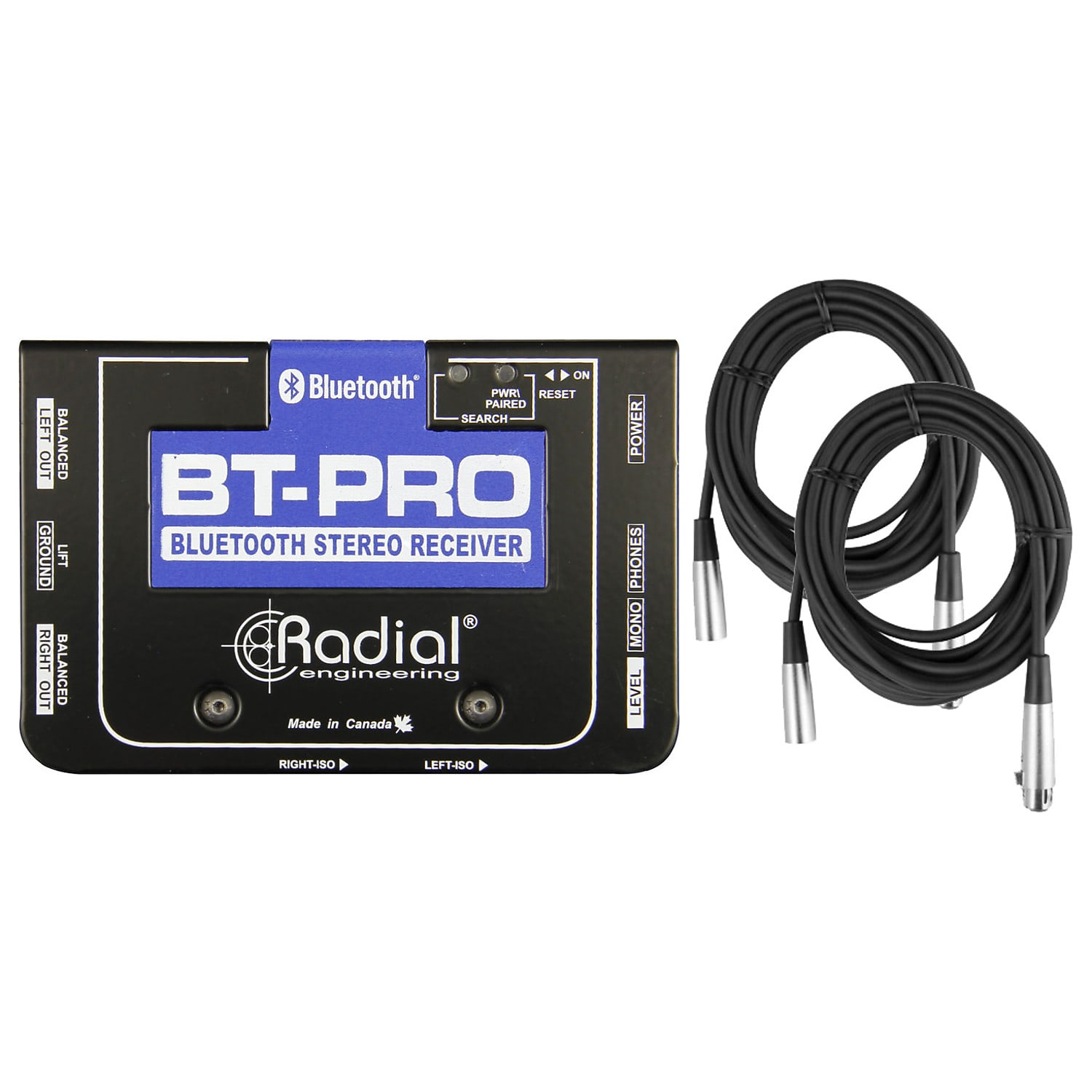 Radial BT-Pro BlueTooth Wireless Receiver w// Stereo DI Outputs Direct Box 2DAY