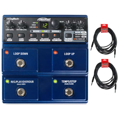Digitech JML2 Jamman Stereo Looper w/ Power Supply and (2) 10' Instrument Cables