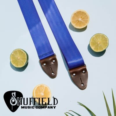 Original Fuzz Seatbelt Guitar Strap in Cobalt