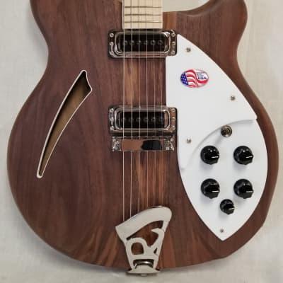 Rickenbacker Deluxe thinline, semi-acoustic Walnut body Electric Guitar, Maple fingerboard, inlaid n for sale