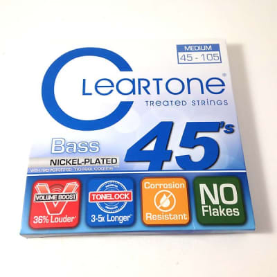 Cleartone Bass Guitar Strings Nickel Plated No Feel Coating 45-105