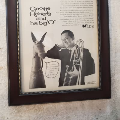 1961 Olds Band Instruments Promotional Ad Framed George Roberts Original