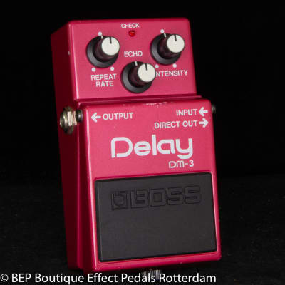 Boss DM-3 Delay 1986 Japan s/n 705600 with MN3205 BBD as used by Jet Rebel ( Great Dutch Musician )