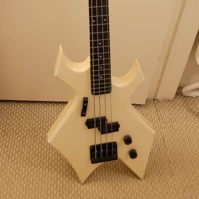 B.C. Rich Warlock (NJ) Bass, 4 String, Vintage 1983-1986 NJ Pearl white, curved headstock, nacre tex for sale