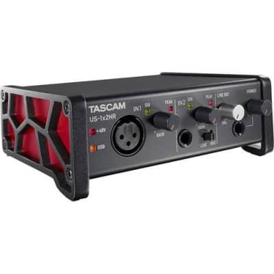 NEW Tascam US-1x2HR Desktop 2x2 USB Type-C Audio Interface