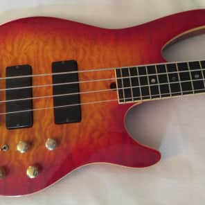 Brian Moore i4 Active Bass Guitar with Figured Maple Top & Gold Hardware for sale