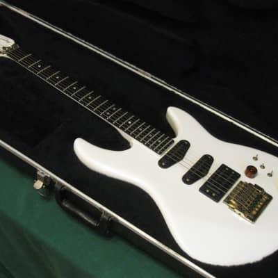 Vintage 1985 Peavey USA Impact 1 Guitar w/ OHSC - White & Gold - Kahler Spyder for sale