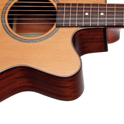 Teton STG105CENT Electro-Acoustic Grand Concert Guitar & H/S Case, Solid Cedar Top Mahogany  B&S