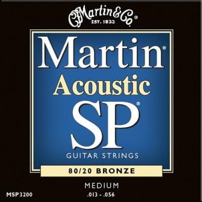 Martin MSP3200 SP 80/20 Bronze Acoustic Guitar Strings - Medium image
