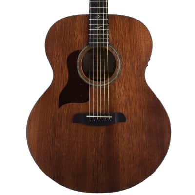 Sawtooth Mahogany Series Left-Handed Solid Mahogany Top Acoustic-Electric Jumbo Guitar for sale