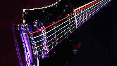 dr hi def neon multi color electric guitar strings 10 46 reverb. Black Bedroom Furniture Sets. Home Design Ideas